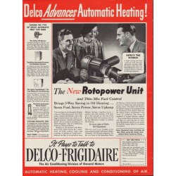 """1937 Delco-Frigidaire Ad """"Rotopower"""""""