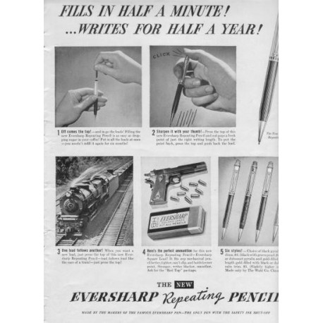 1937 Eversharp Repeating Pencil Ad