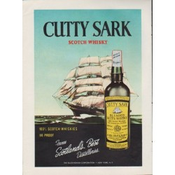 "1959 Cutty Sark Ad ""From Scotland's Best Distilleries"""