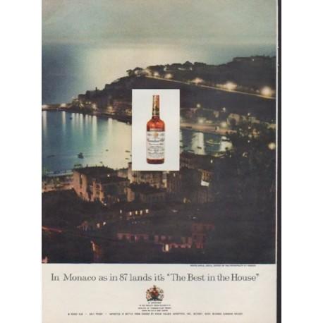 """1959 Canadian Club Ad """"In Monaco"""""""