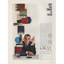 "1959 Gray Audograph Ad ""Gray Has Turned To Color"""