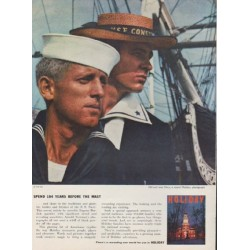 "1959 Holiday Magazine Ad ""Spend 184 Years Before The Mast"""