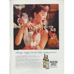 """1959 Martini & Rossi Ad """"a delightful Continental Custom"""""""