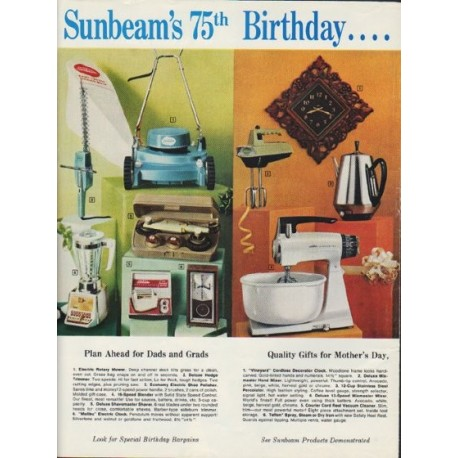 "1968 Sunbeam Ad ""It's our 75th Birthday"""