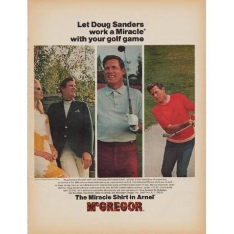 """1968 McGregor Ad """"Doug Sanders"""""""