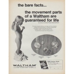 "1968 Waltham Ad ""the bare facts"""