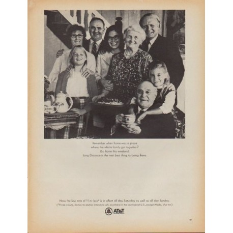 "1968 AT&T Ad ""Remember when home was a place"""