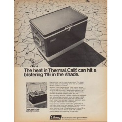 "1968 Coleman Ad ""Thermal, Calif."""