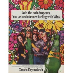 "1968 Canada Dry Ad ""Join the cola dropouts"""