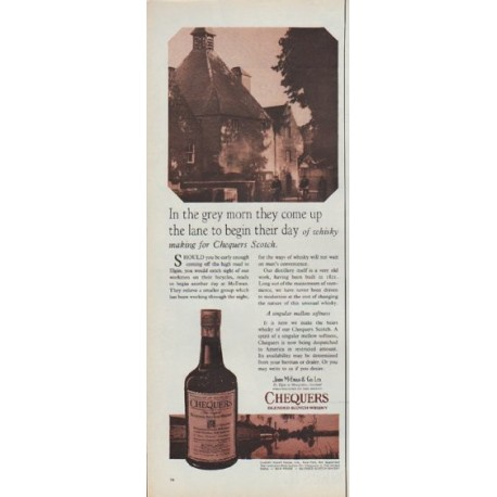 "1968 Chequers Ad ""In the grey morn"""