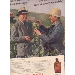 "1937 Four Roses Whiskey Ad ""I never knew that"""