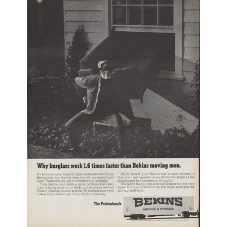 "1968 Bekins Ad ""Why burglars work 1.6 times faster"""
