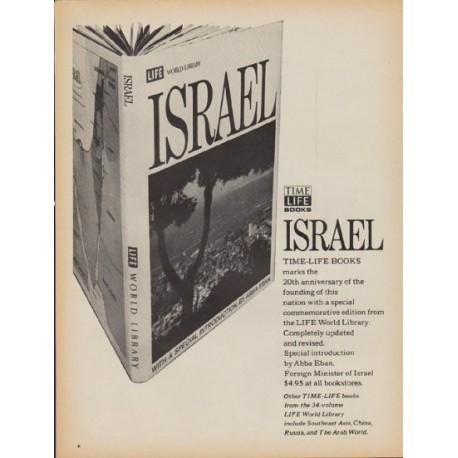 "1968 Time-Life Books Ad ""Israel"""