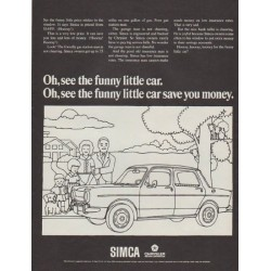 "1968 Simca Ad ""Oh, see the funny little car."""