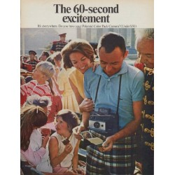 "1968 Polaroid Ad ""The 60-second excitement"""