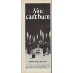 "1968 Afta Ad ""can't burn"""