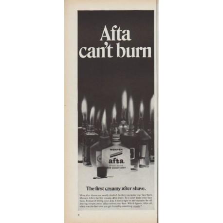 "1968 Afta Ad ""can't burn"""