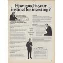 "1968 New York Stock Exchange Ad ""How good is your instinct"""