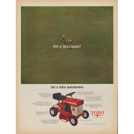 """1968 Toro Ad """"Got a lotta lawn?"""""""