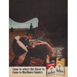 "1968 Marlboro Cigarettes Ad ""Come to where the flavor is."""