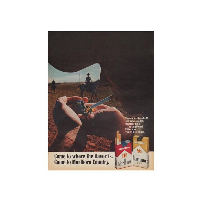 1968 Marlboro Cigarettes Ad Quot Come To Where The Flavor Is Quot