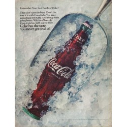 "1968 Coca-Cola Ad ""Remember Your Last Bottle of Coke?"""