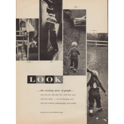 "1957 LOOK Magazine Ad ""the exciting story of people"""
