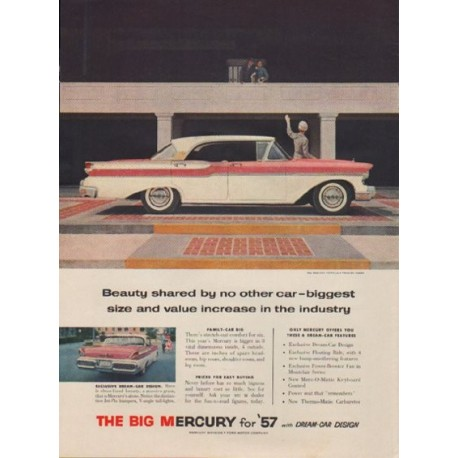 "1957 Ford Mercury Ad ""Beauty shared by no other car"""