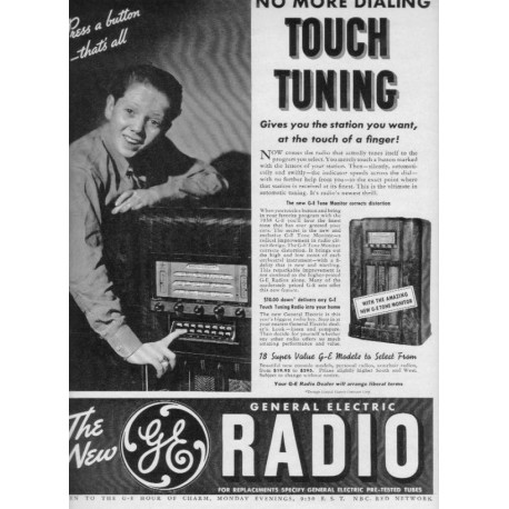 "1937 GE Radio Ad ""No More Dialing"""