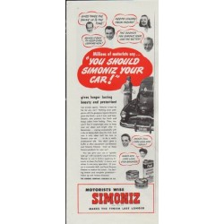 "1948 Simoniz Ad ""You Should Simoniz Your Car!"""