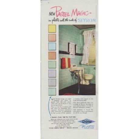 "1948 DOW Plastics Ad ""New Pastel Magic"""