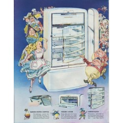 "1948 Philco Refrigerator Ad ""Alice's Adventures in Philcoland"""