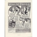 "1937 Gem Micromatic Razor Blades Ad ""Shaving Oddities"""