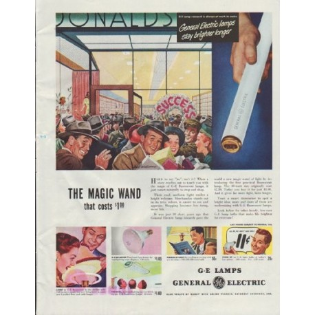 """1948 General Electric Ad """"The Magic Wand"""""""