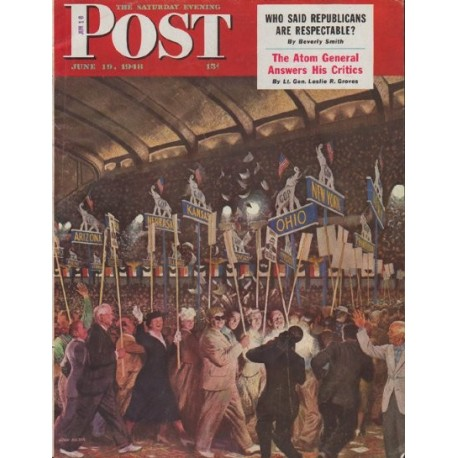 "1948 Saturday Evening Post Cover Page ""Republicans"""