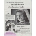 "1948 Pepsodent Ad ""The smile that wins"""