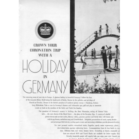 "1937 Germany Tourism Ad ""Holiday In Germany"""