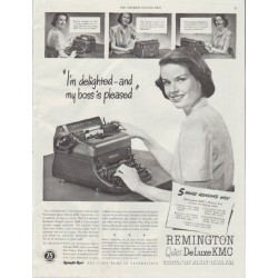 "1948 Remington Rand Ad ""I'm delighted"""