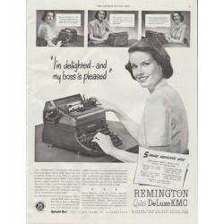 "1948 Remington Rand Ad ""I'm delighted"""