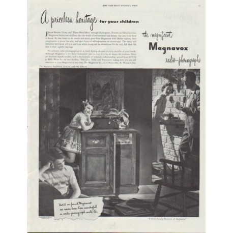 "1948 Magnavox Ad ""A priceless heritage"""