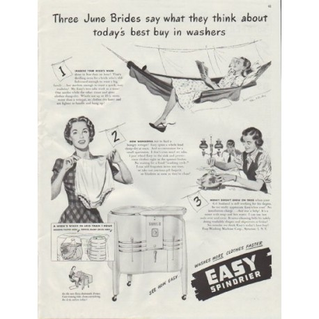 "1948 Easy Washing Machine Ad ""June Brides"""