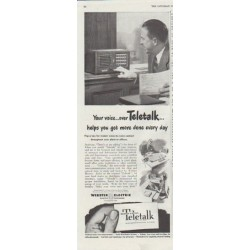 "1948 Teletalk Ad ""Your voice"""