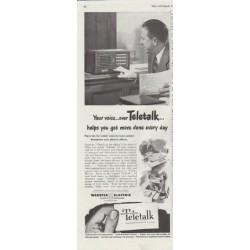 "1948 Teletalk Ad ""Your voice"""