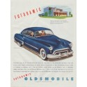 "1948 Oldsmobile Ad ""Futuramic Oldsmobile Club Sedan"""