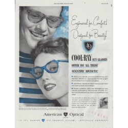 "1948 American Optical Ad ""Engineered for Comfort!"""