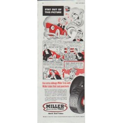 "1948 Miller Tires Ad ""Stay Out Of This Picture"""