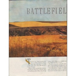 "1948 Caterpillar Ad ""Battlefield of Peace"""