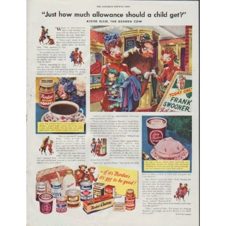 "1948 Borden's Ad ""how much allowance should a child get?"""