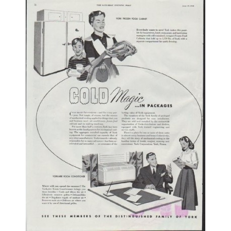 "1948 York Ad ""Cold Magic ... in Packages"""