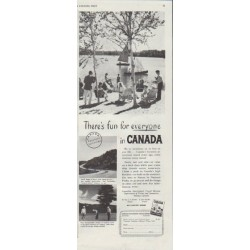 "1948 Canada Travel Ad ""There's fun for everyone"""